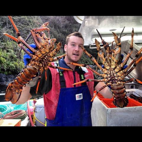 Fisherman with Crayfish as hands