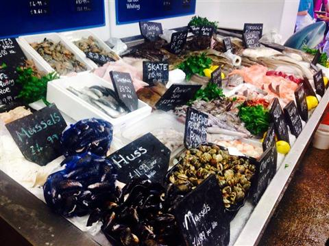 Fresh seafood in Whitstable