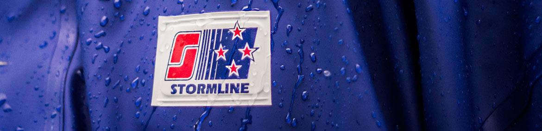 Stormline Logo on rain swept jacket