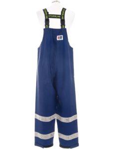 Coastguard 602 Lightweight Rain Gear Safety Pants Back Shot