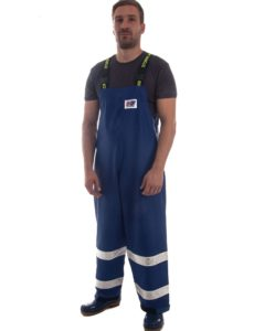 Coastguard 602 Lightweight Rain Gear Safety Pants Model Shot