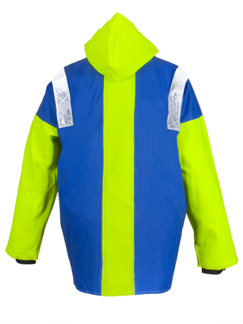 Captains 200 lightweight wet weather jacket back