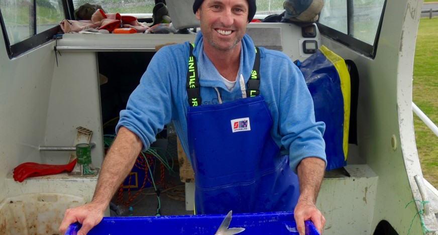 Trapman Bermagui with some freshly caught fish