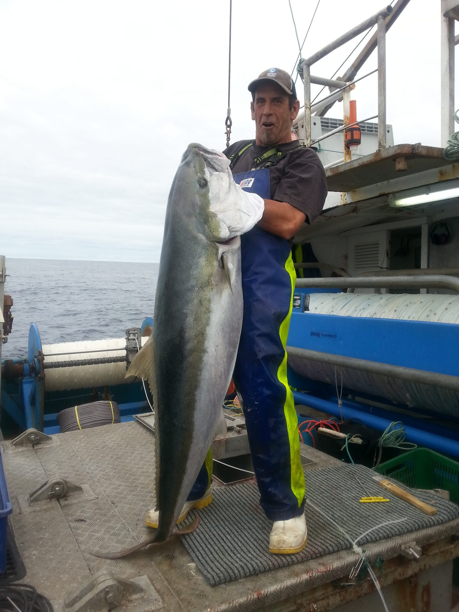 Tony Walker commercial fisherman, wearing Stormline wet weather gear