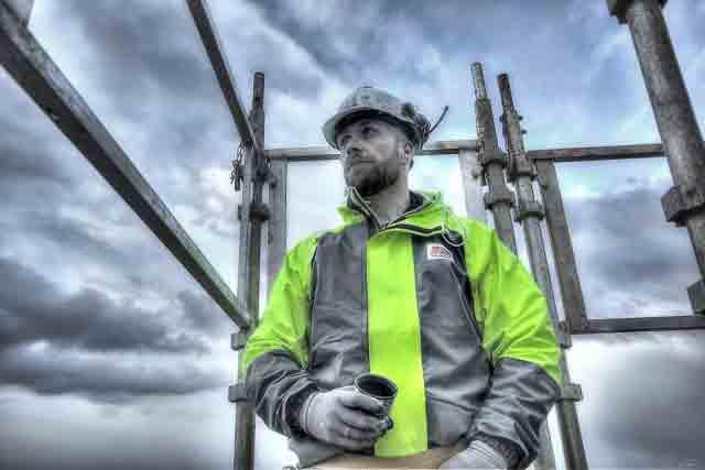 Stormtex-Air 203 hi-vis waterproof jacket for construction
