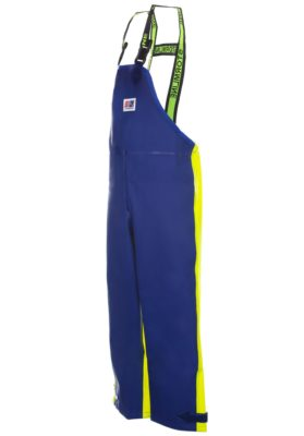 Crew 654 foul weather heavy duty waterproof bib and brace fishing oilskins back quater image