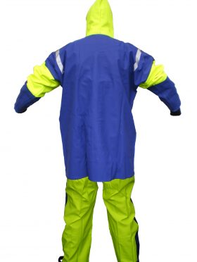 Crew 208 Commercial Fishing foul weather Jacket back