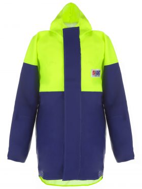 Crew 211 Heavy Duty Foul Weather Jacket Back Shot
