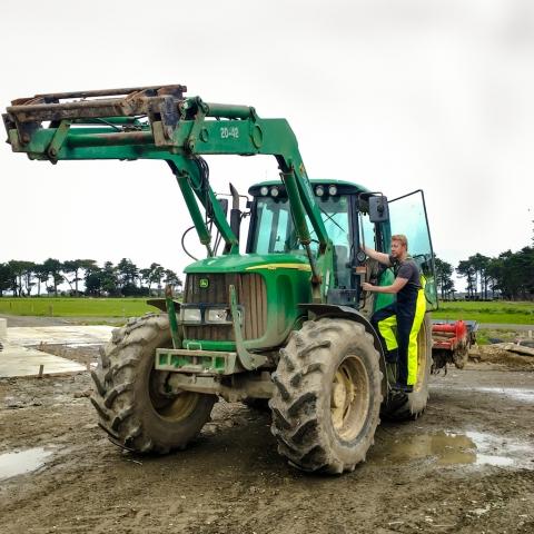 Hi-Vis farming waterproof bib and brace
