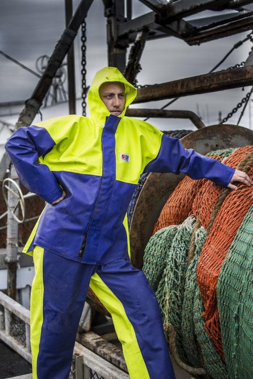 heavy duty commercial fishing rain gear jacket