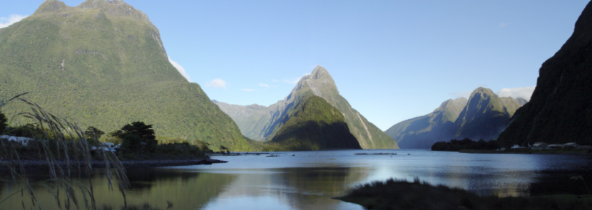 Landscape photograph of Milford Sound, NZ
