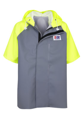 Milford 848 Wet Weather Short Sleeve Jacket hood down