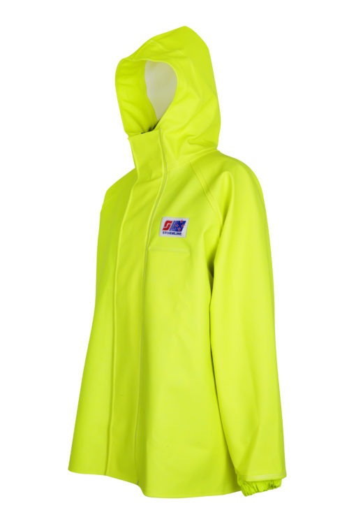 Stormtex 248Y PVC Hi-Viz Oilskin Waterproof Workwear Jacket angle