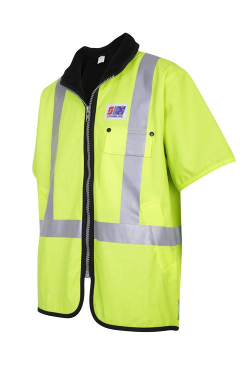 Stormtex 982TNS Class 3 Hi-Viz wet weather workwear vest angle