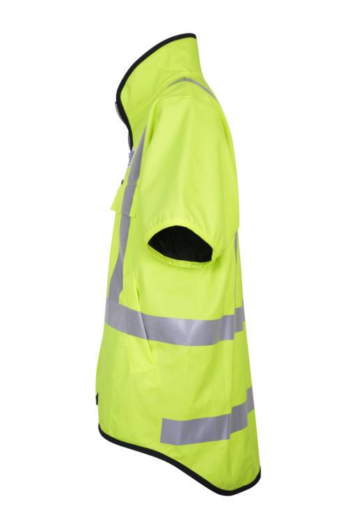 Stormtex 982TNS Class 3 Hi-Viz wet weather workwear vest side