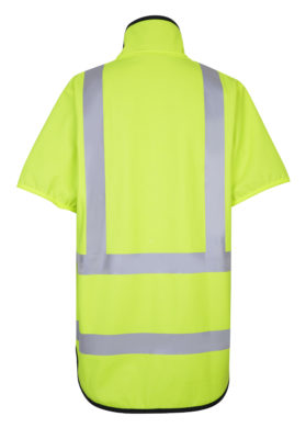 Stormtex 982TNS Class 3 Hi-Viz wet weather workwear vest back