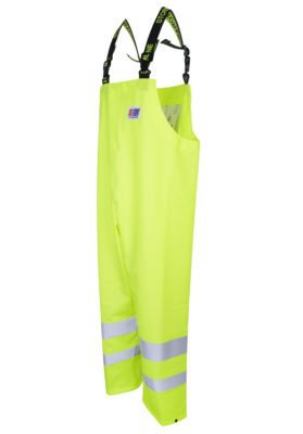 Stormtex 669EN Class 1 hi-viz waterproof bib and brace angle