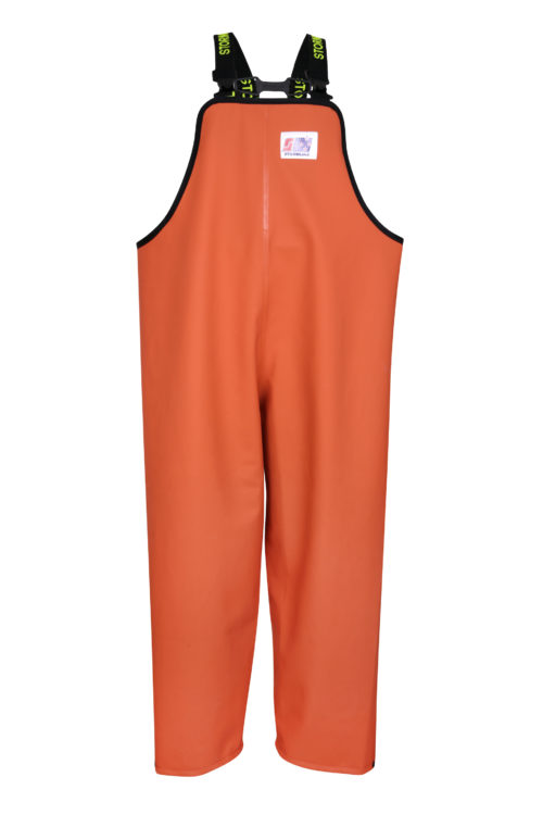 Stormtex 669O Orange PVC Commercial Rain Gear Bib and Brace
