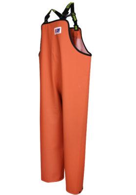Stormtex 669O Orange PVC Commercial Rain Gear Bib and Brace angle