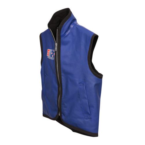 Kids wet weather vest angle